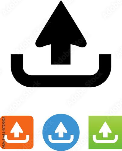 Valokuva  Out Box Icon - Illustration