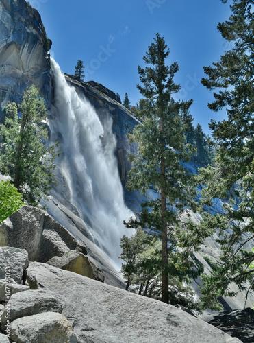 Nevada Falls-Upper Mist Trail Canvas Print