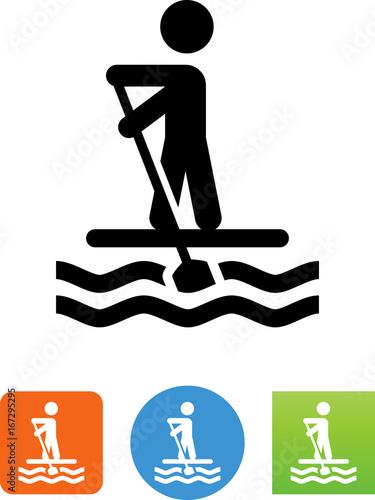 Photo Paddleboarder Icon - Illustration