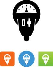 Parking Meter Icon - Illustrat...