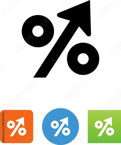 Fotografía Percentage Up Icon - Illustration