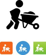 Person Pushing A Wheelbarrow I...