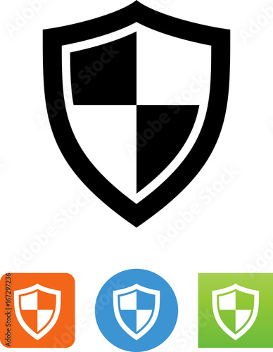Fotografering  Protective Shield Icon - Illustration