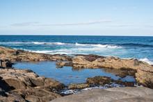 Blue Sky, Ocean And Rock Forma...
