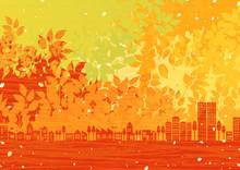 秋の街並み