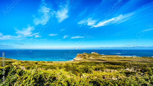 Fotografija  Rugged rocks and steep cliffs of the Cape of Good Hope on the Atlantic Ocean sid