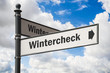 Schild 197 - Wintercheck