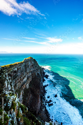 Rugged rocks and steep cliffs of Cape Point in the Cape of Good Hope Nature Rese Canvas-taulu