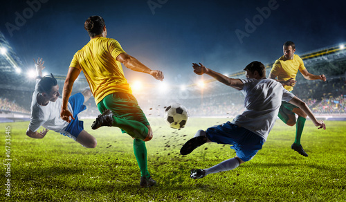 Canvas Print Soccer best moments. Mixed media
