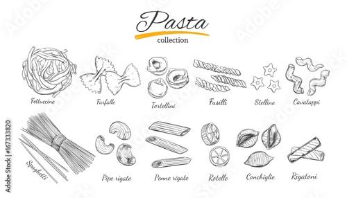 Fotografie, Obraz  Italian Pasta set