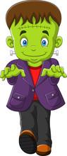 Cartoon Frankenstein Isolated ...