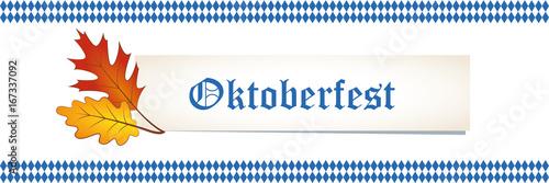 Fototapety, obrazy: oktoberfest banner
