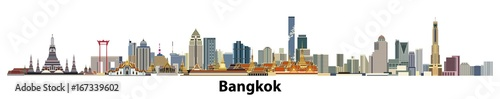 Photo  vector city skyline of Bangkok