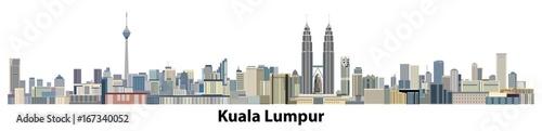 Photo vector city skyline of Kuala Lumpur