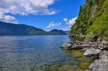 Teletskoye Or Golden Lake. Alt...