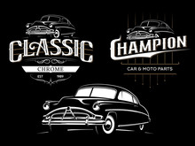Classic Car Typography Emblems...