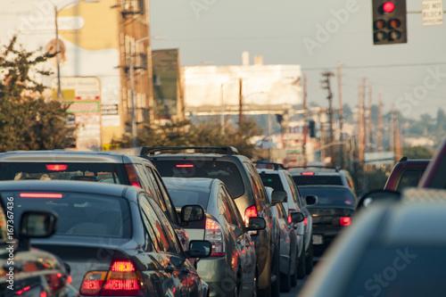 Fototapeta Los Angeles korki-uliczne-w-los-angeles