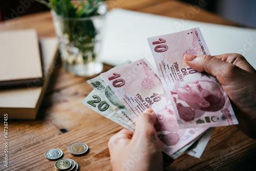 Lira money Canvas Print