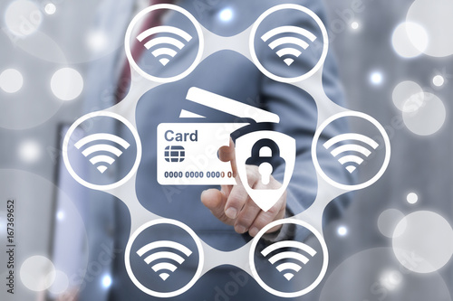 Credit Cards Banking Money Wireless Transactions Security concept