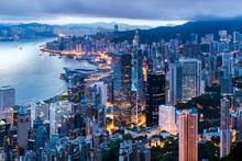 Hong Kong City View From The P...