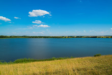 Summer Landscape With Lake In ...