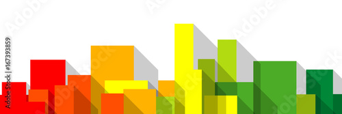 Fotografie, Obraz  immobilier investissement appartement logement urbanisme logo dpe ou échelle éne
