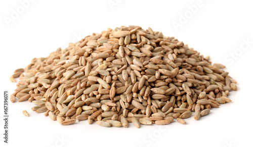 Pile of rye grains