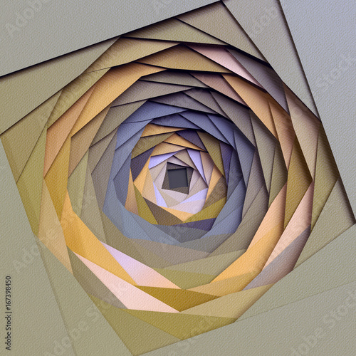 3d-render-abstract-paper-background-diaphragm-layers-flat-polygonal-structures-hole-macro-texture