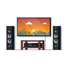 Home Theatre System With Big W...