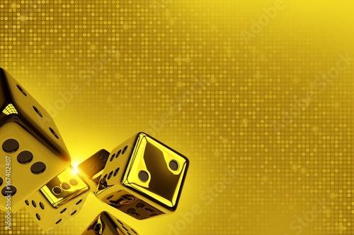 Photo  Golden Dices Copy Space