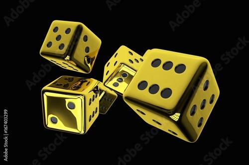Photo  Shiny Golden Casino Dices
