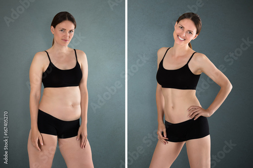 Obraz Before And After Diet Concept - fototapety do salonu