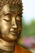 A peaceful face at a temple in Singburi, Thailand
