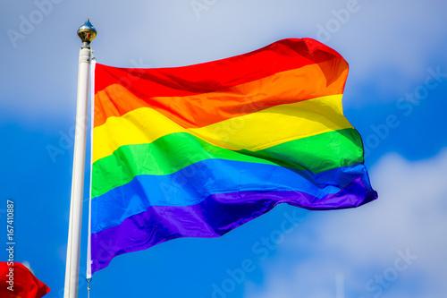 Rainbow Flag Wallpaper Mural