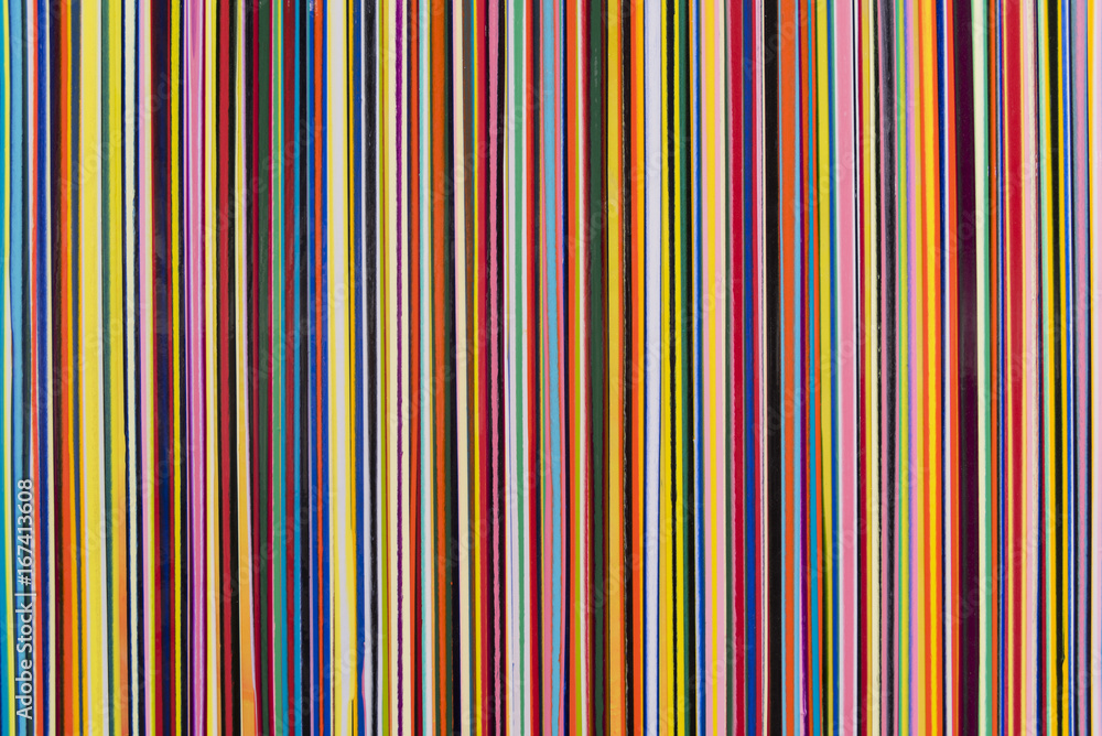 Fototapeta Vertical stripes of various colors thin width with texture.