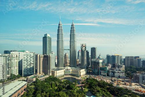 Canvas Prints Kuala Lumpur Kuala lumpur skyline in the morning, Malaysia, Kuala lumpur is capital city of Malaysia