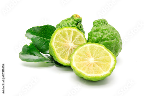 Photo Bergamot fruit, Bergamot isolated on white background.