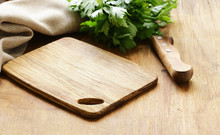 Food Background, Wooden Cuttin...