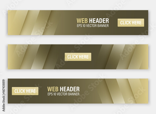 Fototapeta Horizontal vector website header or banner. obraz