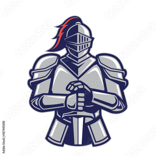 Vászonkép Warrior knight mascot
