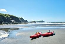 Canoes On Newport Sands, NEWPO...