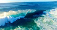 Pipeline Wave Cresting At Peak...