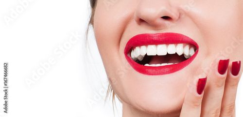 White teeth and red lips Poster