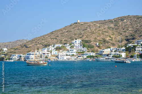 Katapola, Amorgos island. Greece Canvas Print