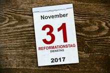 Abreißkalender Kalender Mit Reformationstag 2017