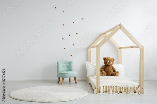 Fotografie, Obraz  Elegant chic chair in bedroom