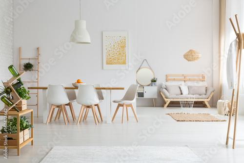 Fotografía  Dining room and living room in loft