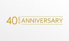 40 Years Anniversary Emblem. A...
