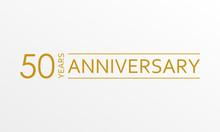 50 Years Anniversary Emblem. A...