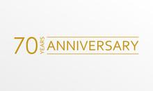 70 Years Anniversary Emblem. A...